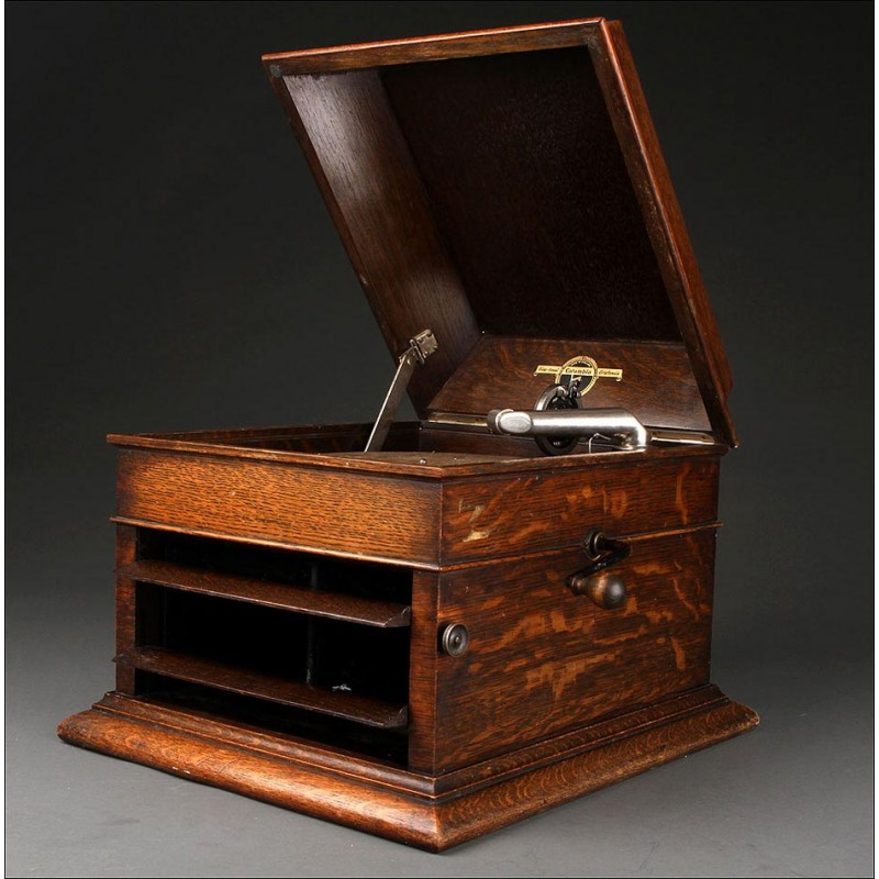 Gramófono Columbia Original, Fabricado en Inglaterra en el Año 1927. Buen Sonido y Excelente Estado