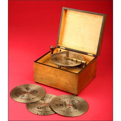Bonita Caja de Música Alemana Kalliope, principios del siglo XX.