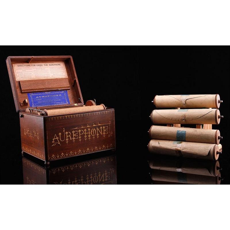 Organillo Aurephone en Perfecto Estado de Funcionamiento. EEUU, 1885