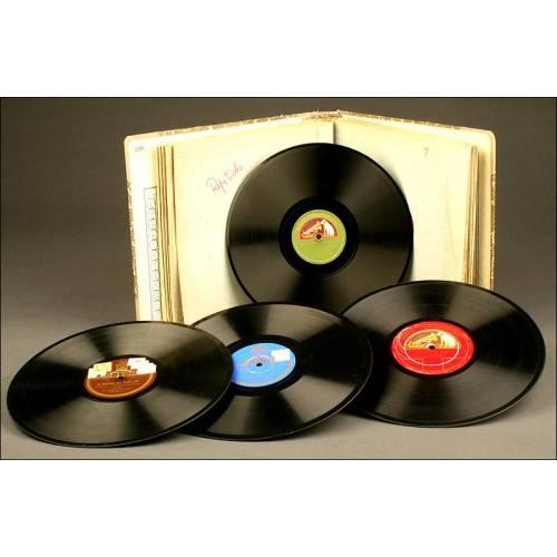 Álbum de 12 Discos de Música Clásica para Gramófono.