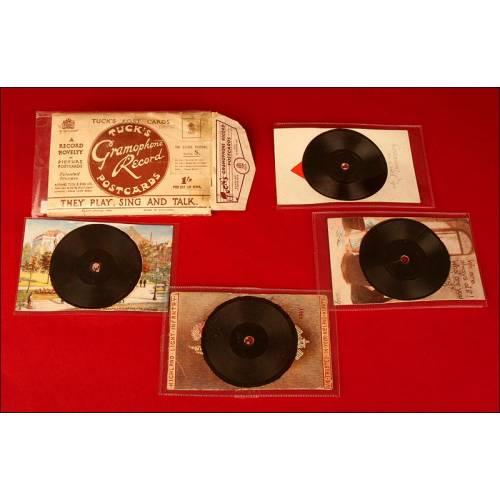 Lote de 4 Postales Parlantes Tuck, Circa 1.930.