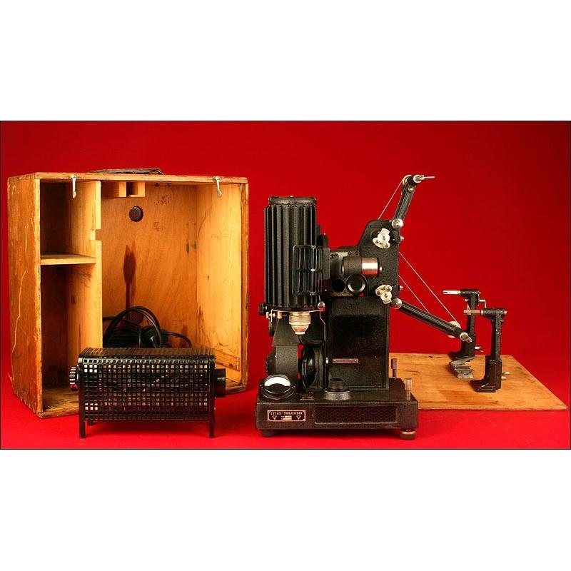 Fantástico Proyector de 16 mm Lytax Klangton, Alemania. Años 30. Caja Original