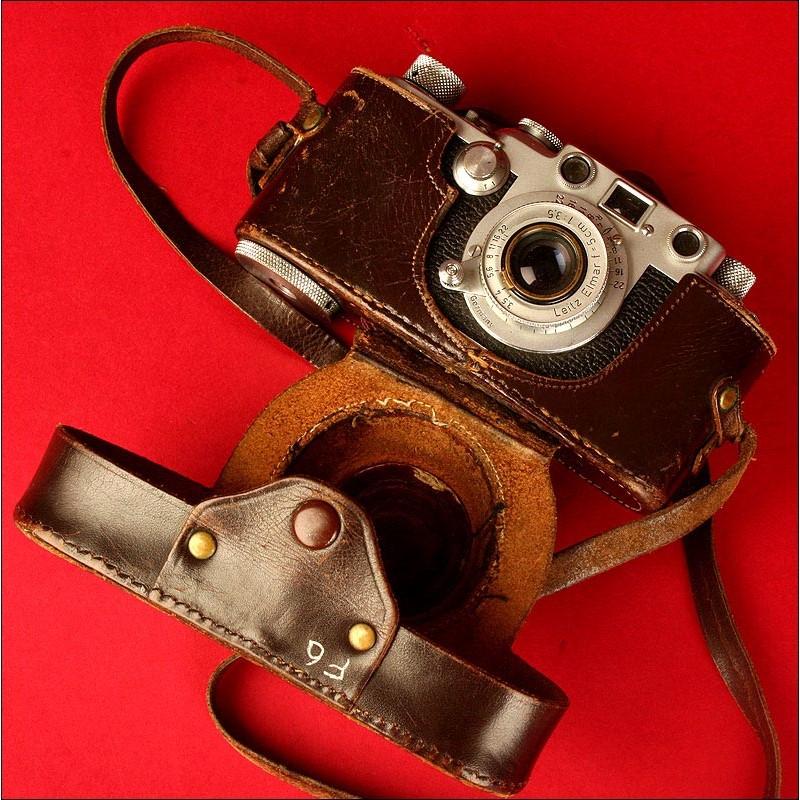 Estupenda Cámara Marca Leica Modelo III F., Año 1952. En su Funda Original.