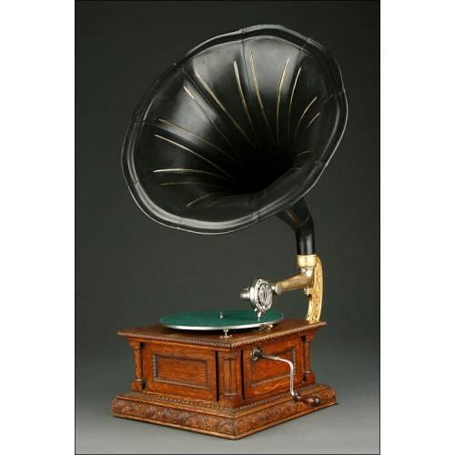 Gramófono de Bocina Francés Ideal. Año 1915. En Perfecto Funcionamiento