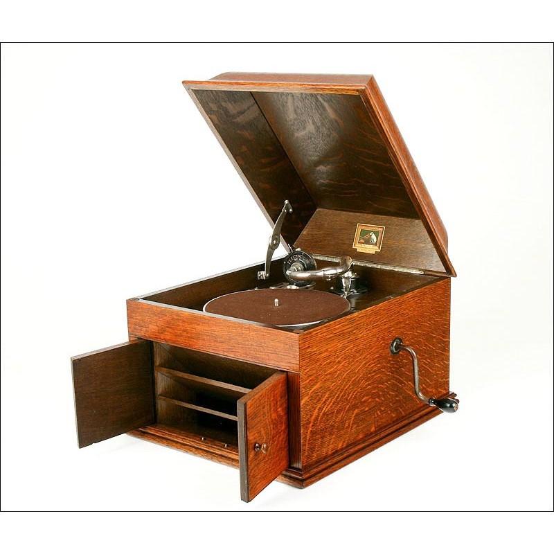 Gramófono de Mesa La Voz de su Amo, 1927. Restaurado y Funcionando a la Perfección