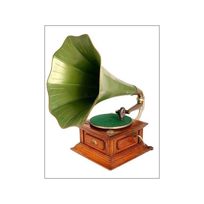 Gramófono La Voz de su Amo. 1910. ¡EL AUTENTICO!