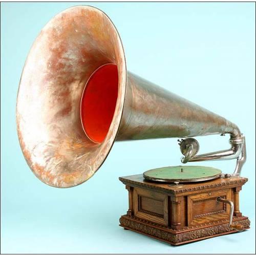 Gramófono La Voz de su Amor MS Monarch especial. 1902