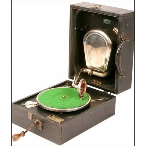 Gramola Decca portátil. 1926