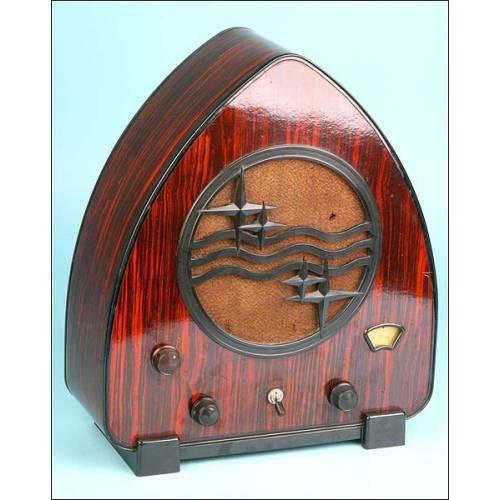 Radio de válvulas Philips 930 A. Lata de jamón. 1931