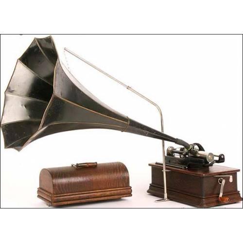 Fonógrafo Edison Home. Modelo D. 2 reproductores. 1908