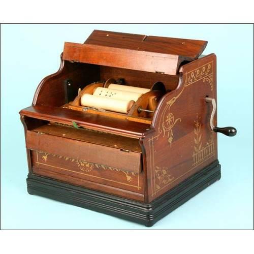 Organillo portátil Mandolina Celestina de 20 notas. 1870