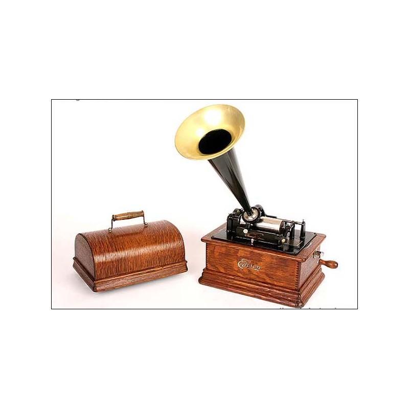 Fonógrafo Edison 1905 . ¡FUNCIONANDO PERFECTAMENTE!
