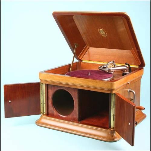 Gramófono de sobremesa Odeon. 2 bocinas. 1930