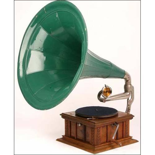 Gramófono de trompeta Parlophon, modelo de lujo. 1910