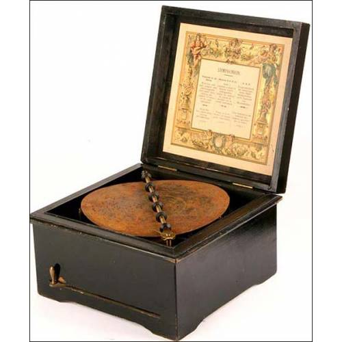 Caja de música Poliphon Sinphonium. 1880
