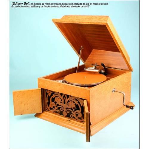 Gramofono Edison Bell edición de lujo, C.1915.