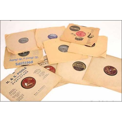 Lote de 10 discos de gramófono
