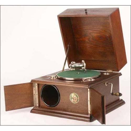 Gramófono de sobremesa Parlophone. 1930