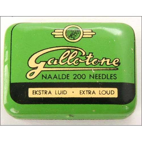 Caja de 200 agujas para gramófono Gallotone. Tono ultra-alto. Precintada