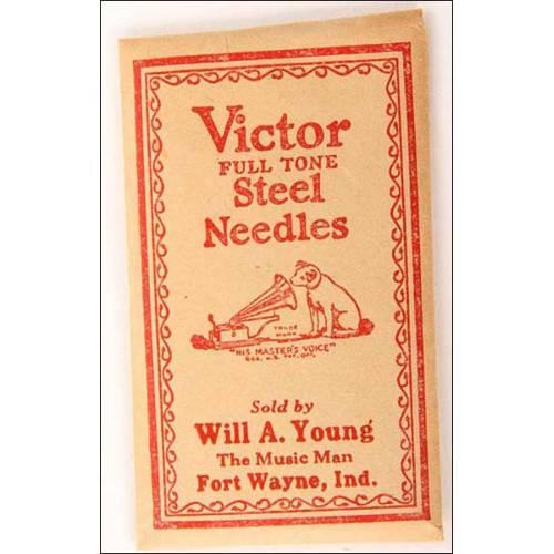 100 agujas para gramófono Víctor. Tono alto.
