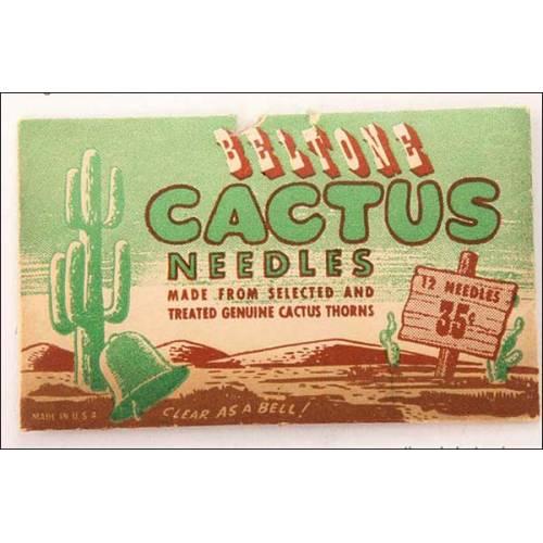 12 rarísimas agujas fabricadas con espinas seleccionas de cáctus.