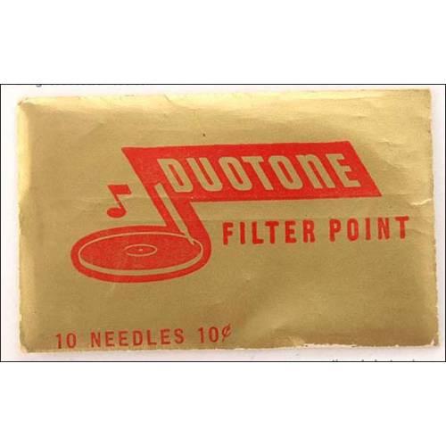 10 agujas para gramófono Duotone. Tono alto.