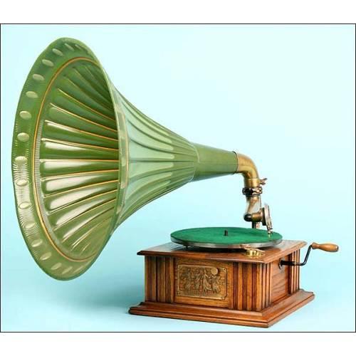 Gramófono de trompeta Symphonista. 1912