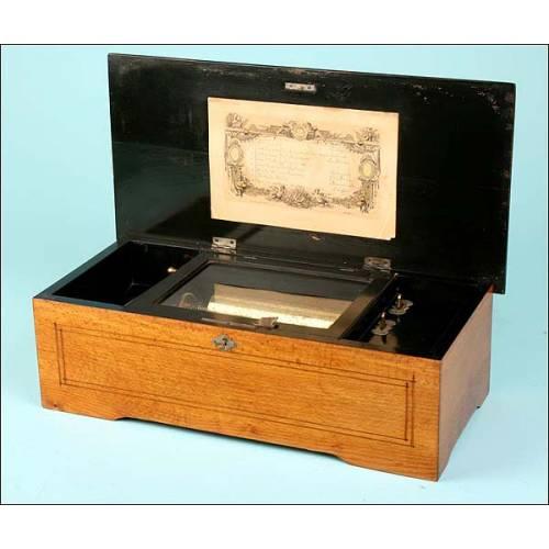Caja de música suiza con 8 melodías. 1870