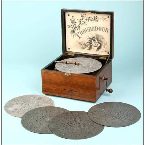 Caja de música de discos Trobador. 1880