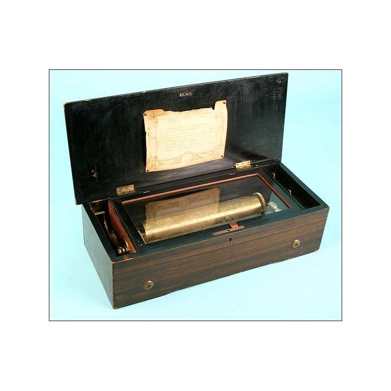 Caja de música suiza ocho melodías. Circa1870