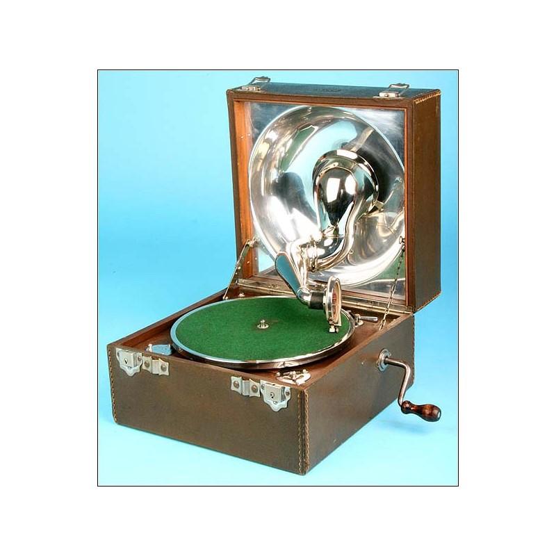Gramófono portátil Decca. Años 30.