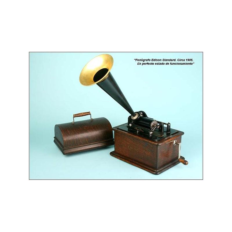 Fonografo Edison Standard. Funcionando. 1905