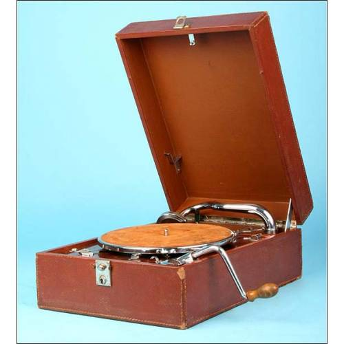 Gramófono portátil Pathe Olotonal. Años 20