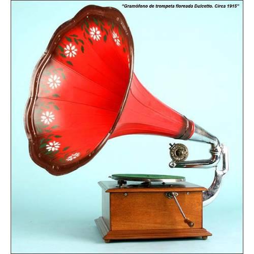Gramófono de trompeta Dulcetto. 1915