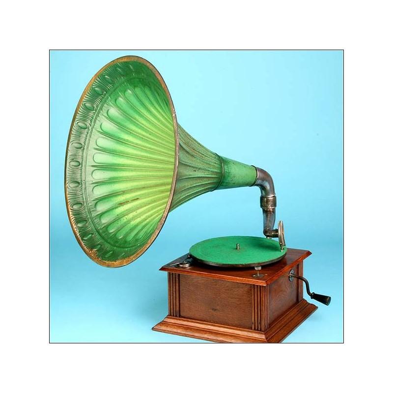 Gramófono de trompeta Perfectaphone. 1910.