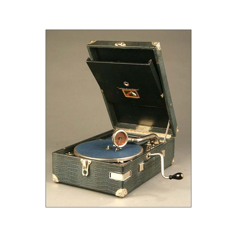 Gramófono de maleta, La Voz de Su Amo, Mod. 102, Años 30