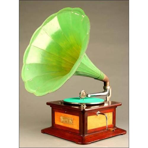 Gramófono de Trompeta Español, Electro Parlonet, Año 1915