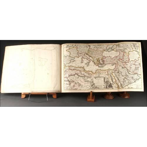 Atlas de Nicolas Visscher del Año 1670. Con 23 Magníficos Mapas. OPORTUNIDAD