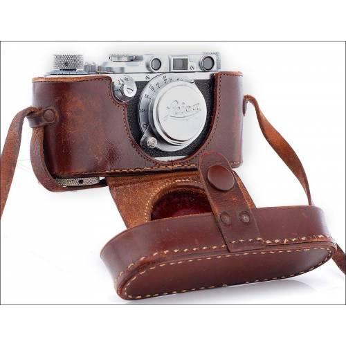 Cámara Leica IIIf fabricada en Alemania en 1952-53. Magníficamente conservada y funcionando