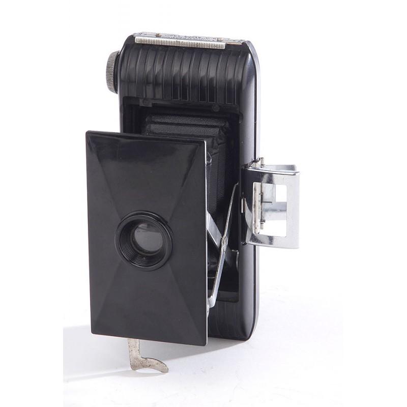 Elegante Cámara de Fuelle Kodak Jiffy V.P. en Buenas Condiciones. EEUU, Años 30-40