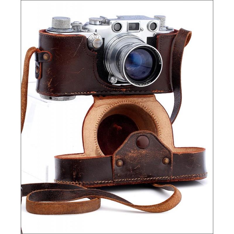 Excepcional Cámara Fotográfica Leica IIIc Muy Bien Conservada. Alemania, 1949-50. Funcionando