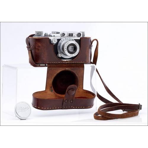 Magnífica Cámara Leica III Fabricada en Alemania en 1934. Funciona Muy Bien. Original y Bien Conservada