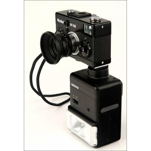Fantástica Cámara Fotográfica Rollei 35 SE en Estuche Original. Alemania, Años 70-80