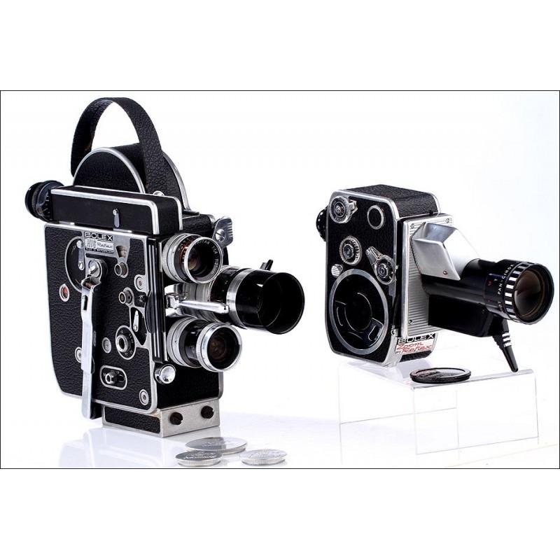 Filmadoras Bolex de 16 y 8 mm, de los Años 60. Buenas Condiciones y Funcionando