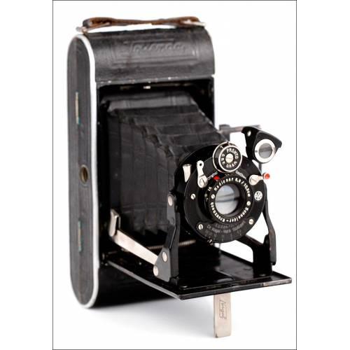 Cámara de Fuelle Nagel-Kodak Vollenda 68 Fabricada en Alemania en 1937. En Buen Estado y Funcionando