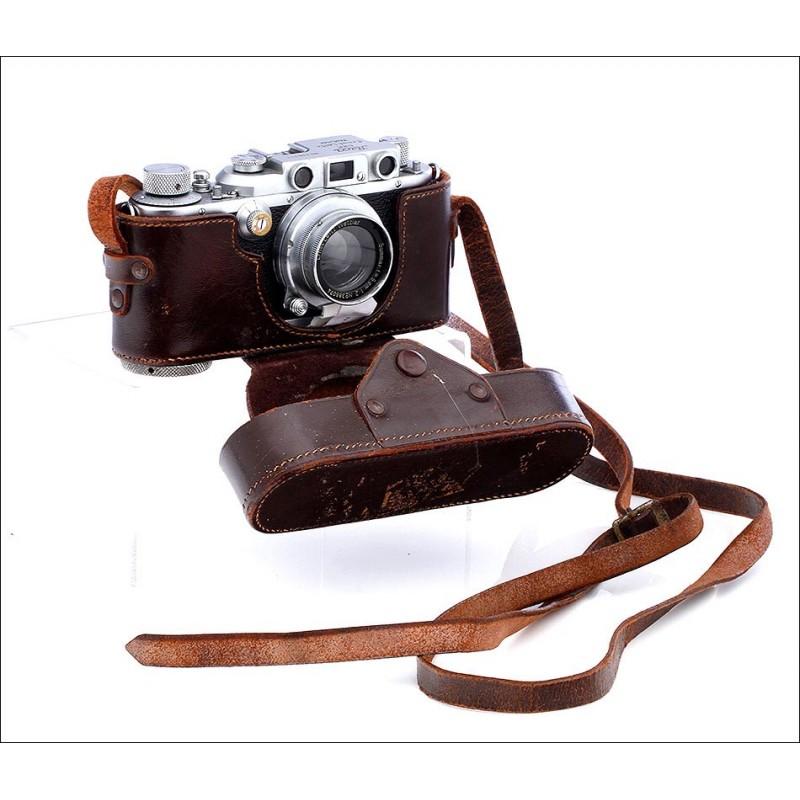 Cámara Fotográfica Leica IIIb del Año 1939-40. En Excelente Estado y Perfecto Funcionamiento
