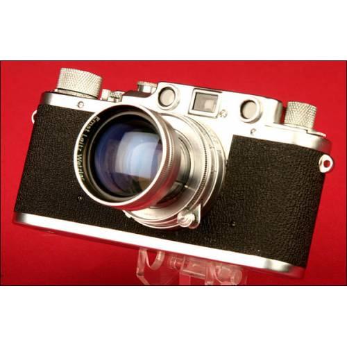 Genuina Cámara Marca Leica Modelo II C. Alemania, 1948-1951