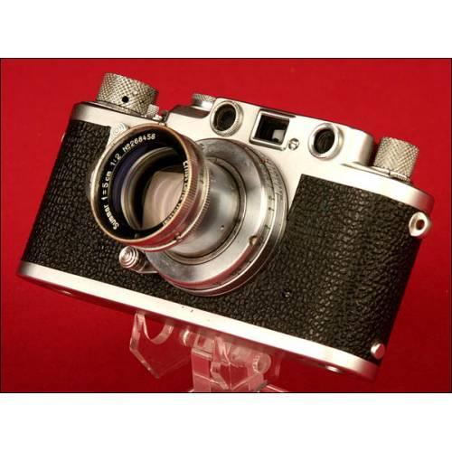 Fantástica Cámara Marca Leica Modelo III F. 1955.