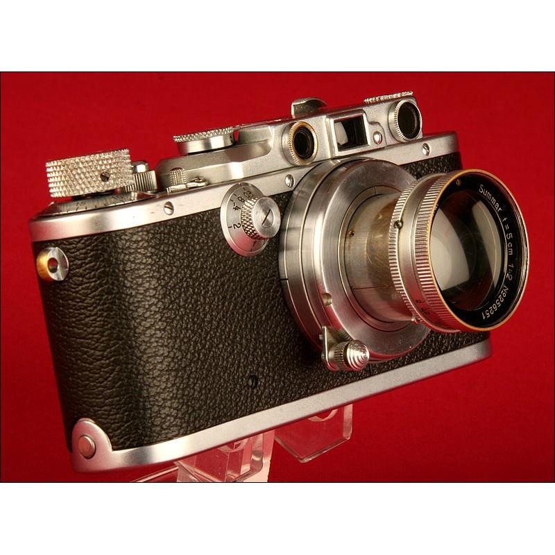 Cámara de Fotos Leica Modelo III-A, Año 1935. Funcionando Perfectamente. Objetivo Leica