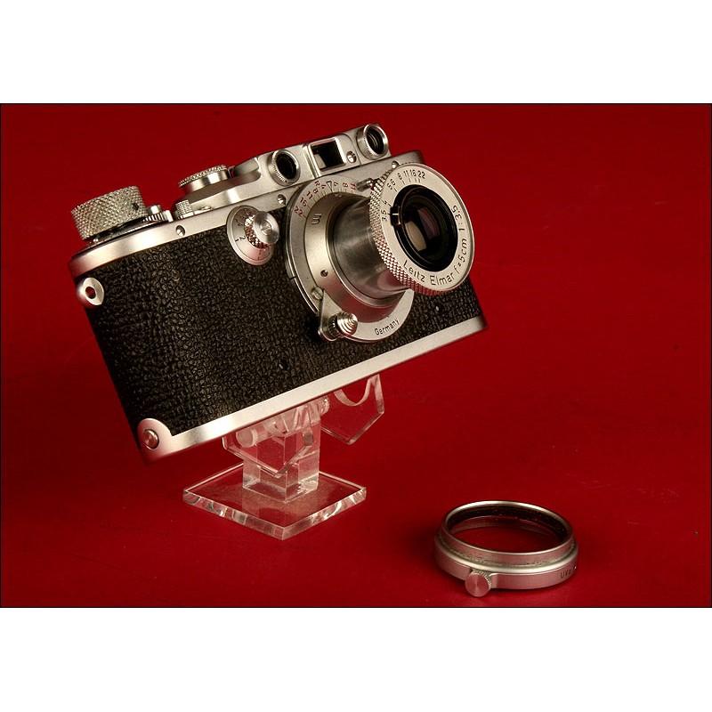 Fantástica Cámara Leica Modelo III-A de 1948. Funda Original. Funciona Pefectamente